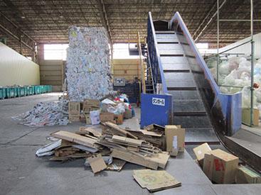 大型古紙梱包機 ラージベーラー